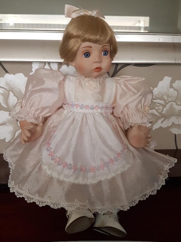 Preview of the first image of Bonny Baby Girl Porcelain Collectors Doll.