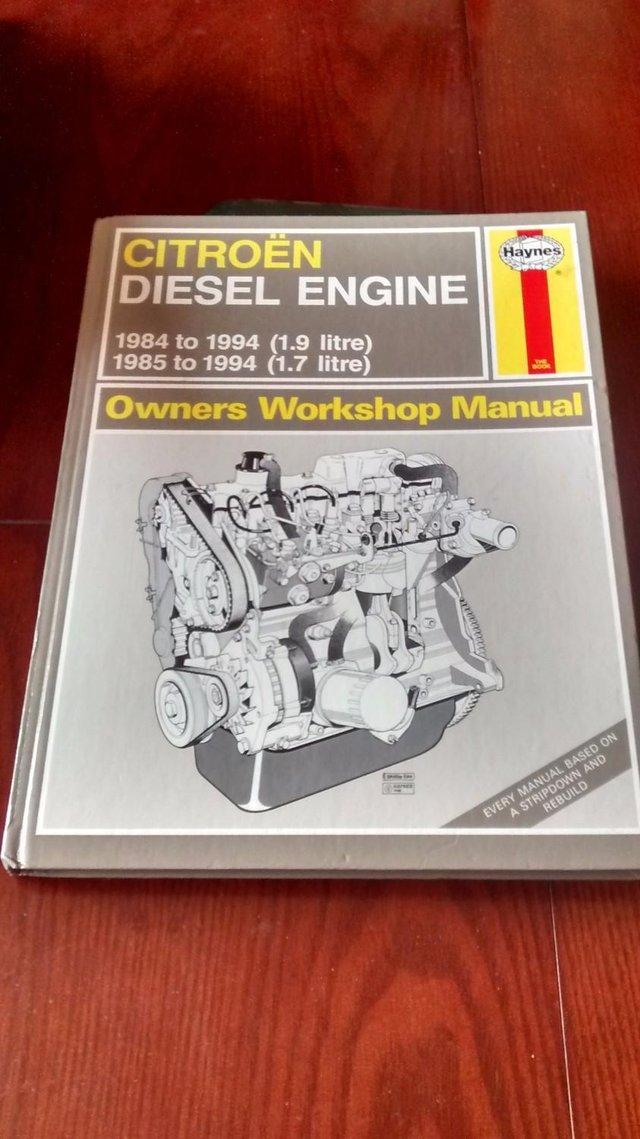 Preview of the first image of Citroen Diesel & Petrol 1.9cc = x 2 Haynes manuals.