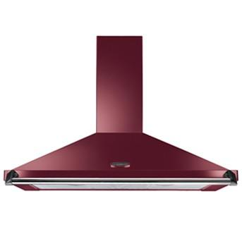 Preview of the first image of RANGEMASTER 100CM CRANBERRY/CHROME CHIMNEY HOOD-GRADED-WOW.