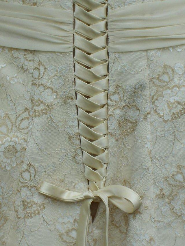 Image 3 of RAYLIA DESIGN Corset Back Midi Prom Dress–Size 12-NEW!