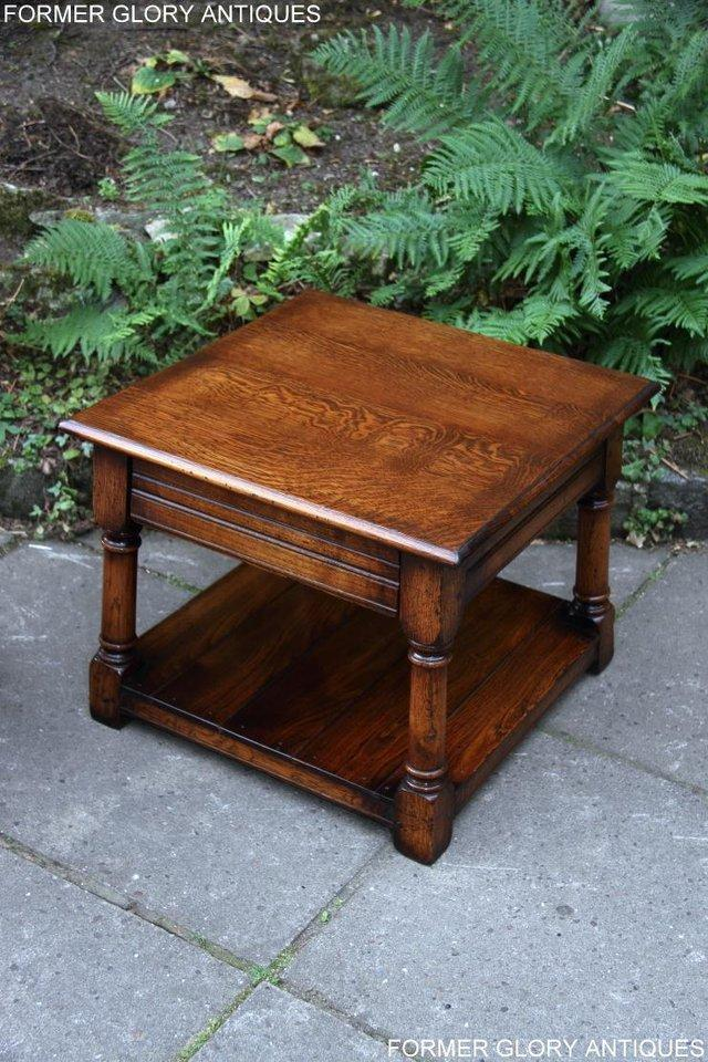 Image 2 of 2 TITCHMARSH & GOODWIN OAK COFFEE PHONE LAMP ARMCHAIR TABLES