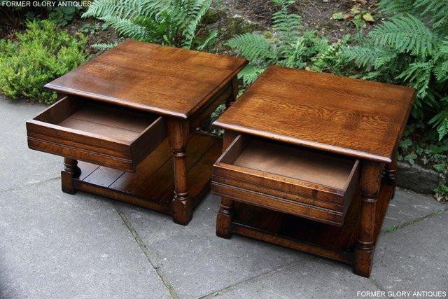 Image 3 of 2 TITCHMARSH & GOODWIN OAK COFFEE PHONE LAMP ARMCHAIR TABLES