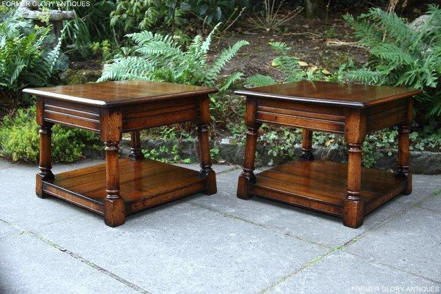 Image 5 of 2 TITCHMARSH & GOODWIN OAK COFFEE PHONE LAMP ARMCHAIR TABLES
