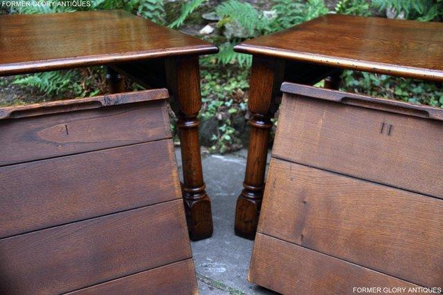 Image 6 of 2 TITCHMARSH & GOODWIN OAK COFFEE PHONE LAMP ARMCHAIR TABLES