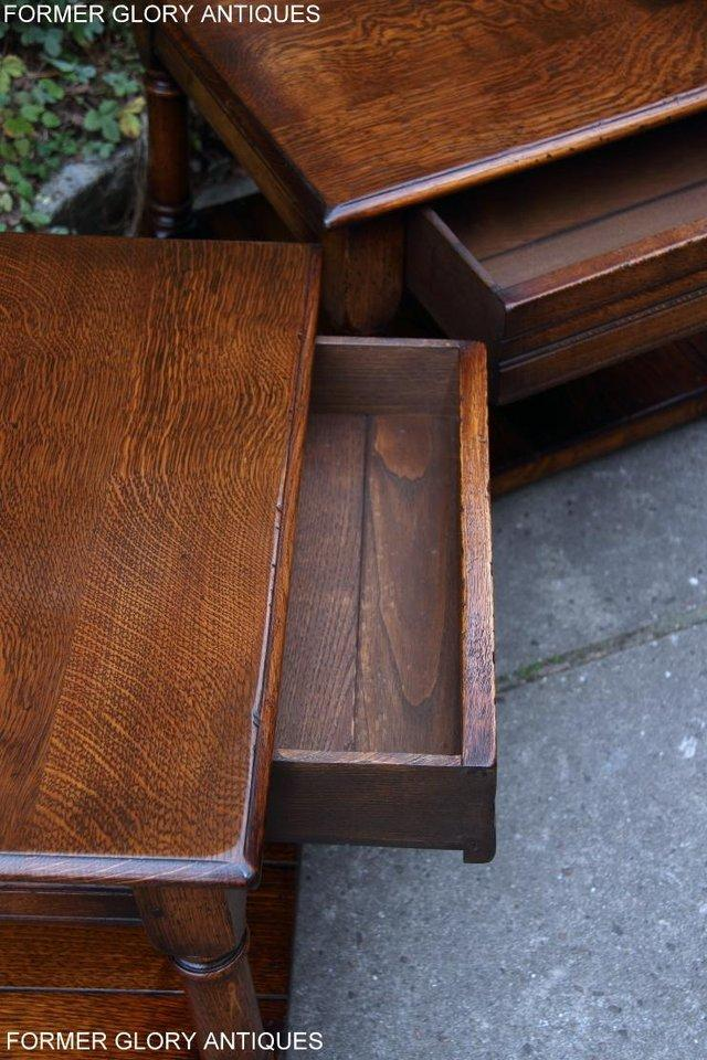 Image 7 of 2 TITCHMARSH & GOODWIN OAK COFFEE PHONE LAMP ARMCHAIR TABLES