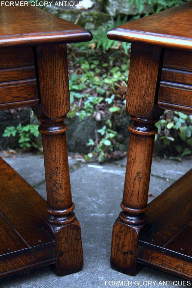 Image 8 of 2 TITCHMARSH & GOODWIN OAK COFFEE PHONE LAMP ARMCHAIR TABLES