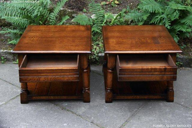 Image 9 of 2 TITCHMARSH & GOODWIN OAK COFFEE PHONE LAMP ARMCHAIR TABLES