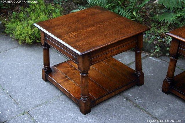 Image 10 of 2 TITCHMARSH & GOODWIN OAK COFFEE PHONE LAMP ARMCHAIR TABLES