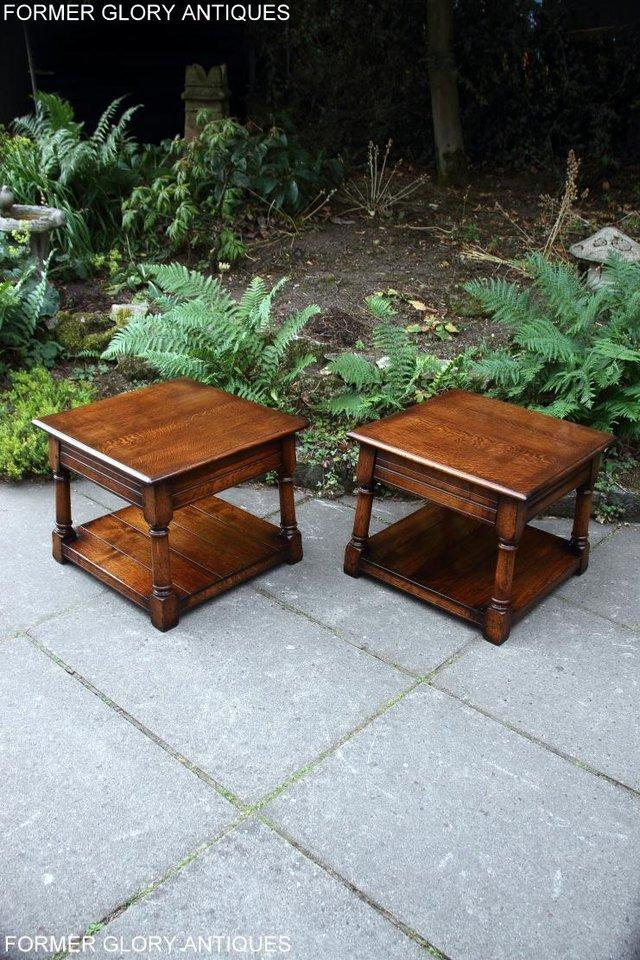 Image 14 of 2 TITCHMARSH & GOODWIN OAK COFFEE PHONE LAMP ARMCHAIR TABLES