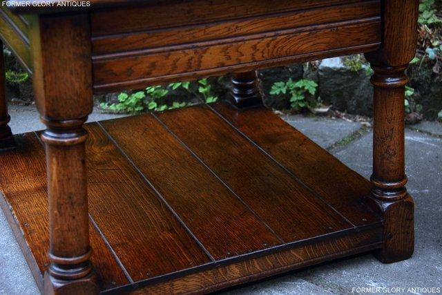 Image 15 of 2 TITCHMARSH & GOODWIN OAK COFFEE PHONE LAMP ARMCHAIR TABLES