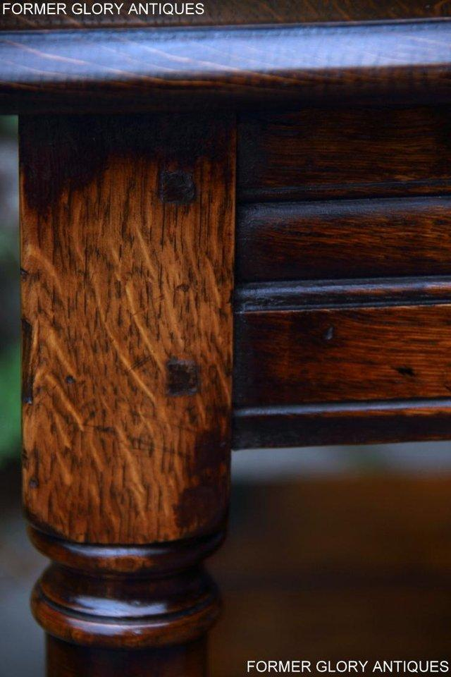 Image 16 of 2 TITCHMARSH & GOODWIN OAK COFFEE PHONE LAMP ARMCHAIR TABLES