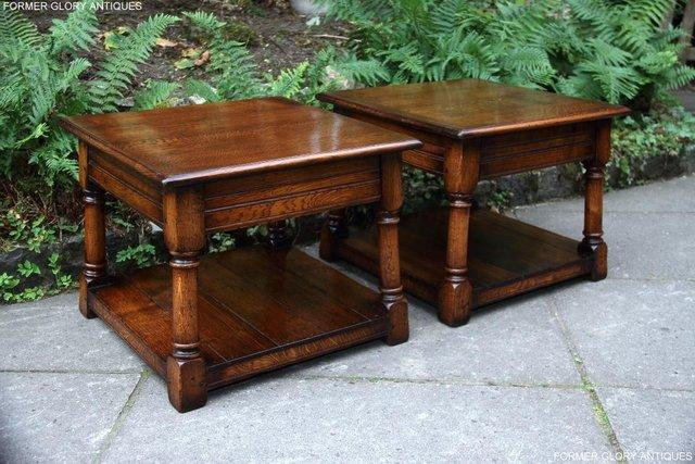 Image 17 of 2 TITCHMARSH & GOODWIN OAK COFFEE PHONE LAMP ARMCHAIR TABLES