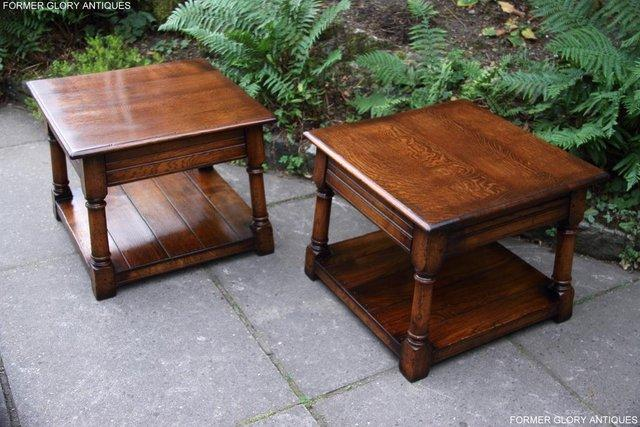 Image 20 of 2 TITCHMARSH & GOODWIN OAK COFFEE PHONE LAMP ARMCHAIR TABLES