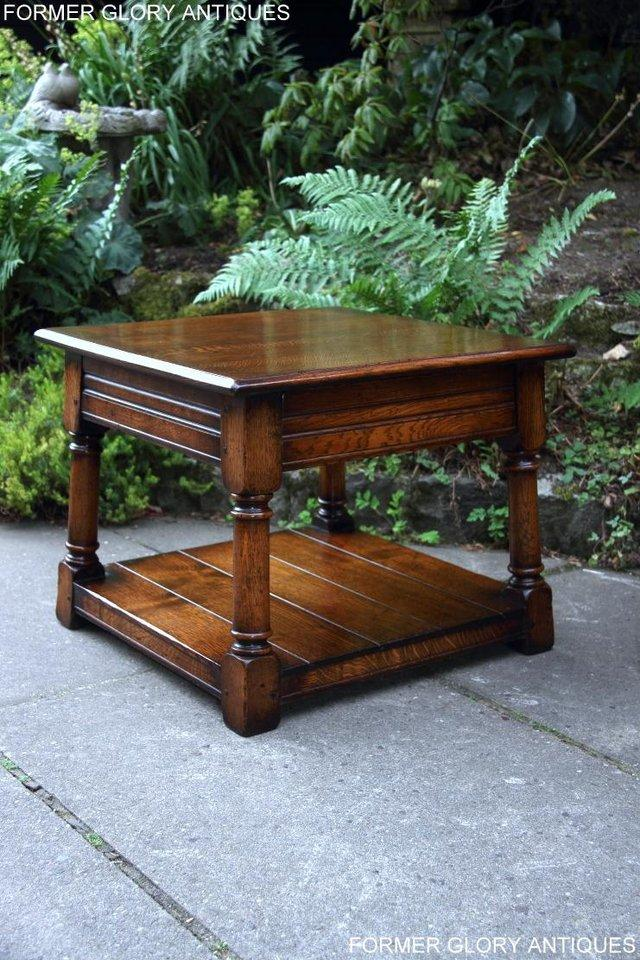 Image 21 of 2 TITCHMARSH & GOODWIN OAK COFFEE PHONE LAMP ARMCHAIR TABLES