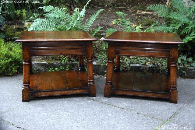 Image 22 of 2 TITCHMARSH & GOODWIN OAK COFFEE PHONE LAMP ARMCHAIR TABLES