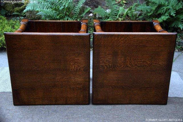 Image 24 of 2 TITCHMARSH & GOODWIN OAK COFFEE PHONE LAMP ARMCHAIR TABLES