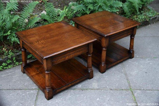 Image 25 of 2 TITCHMARSH & GOODWIN OAK COFFEE PHONE LAMP ARMCHAIR TABLES