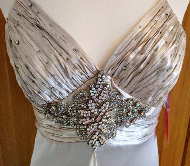Image 2 of NEW MORGAN & CO Wedding Dress Diamante Platinum Art Deco