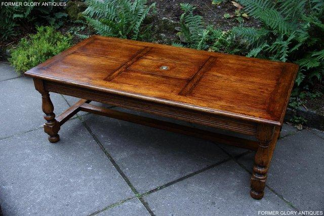 Image 2 of TITCHMARSH & GOODWIN STYLE OAK COFFEE TEA GAMES TABLE STAND
