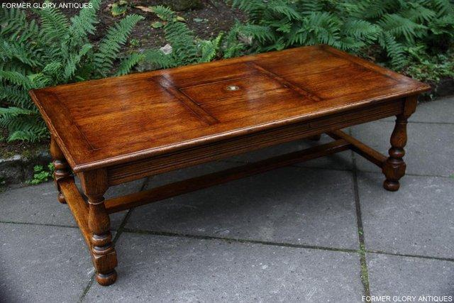 Image 3 of TITCHMARSH & GOODWIN STYLE OAK COFFEE TEA GAMES TABLE STAND