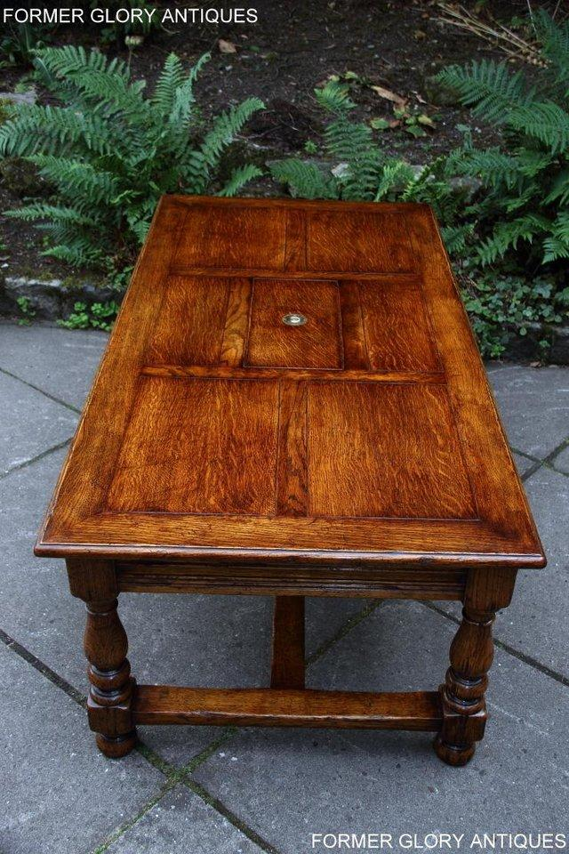 Image 6 of TITCHMARSH & GOODWIN STYLE OAK COFFEE TEA GAMES TABLE STAND