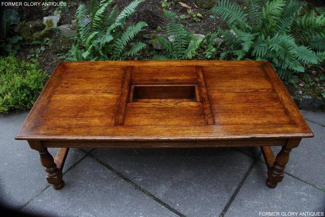 Image 7 of TITCHMARSH & GOODWIN STYLE OAK COFFEE TEA GAMES TABLE STAND