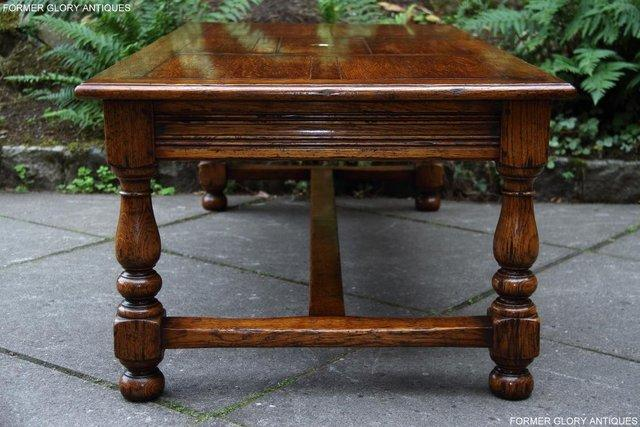 Image 11 of TITCHMARSH & GOODWIN STYLE OAK COFFEE TEA GAMES TABLE STAND