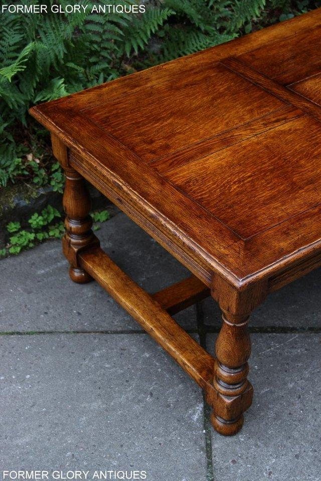 Image 12 of TITCHMARSH & GOODWIN STYLE OAK COFFEE TEA GAMES TABLE STAND