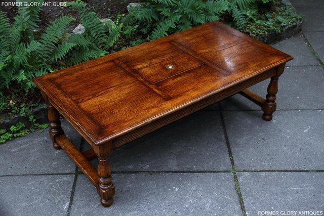Image 16 of TITCHMARSH & GOODWIN STYLE OAK COFFEE TEA GAMES TABLE STAND