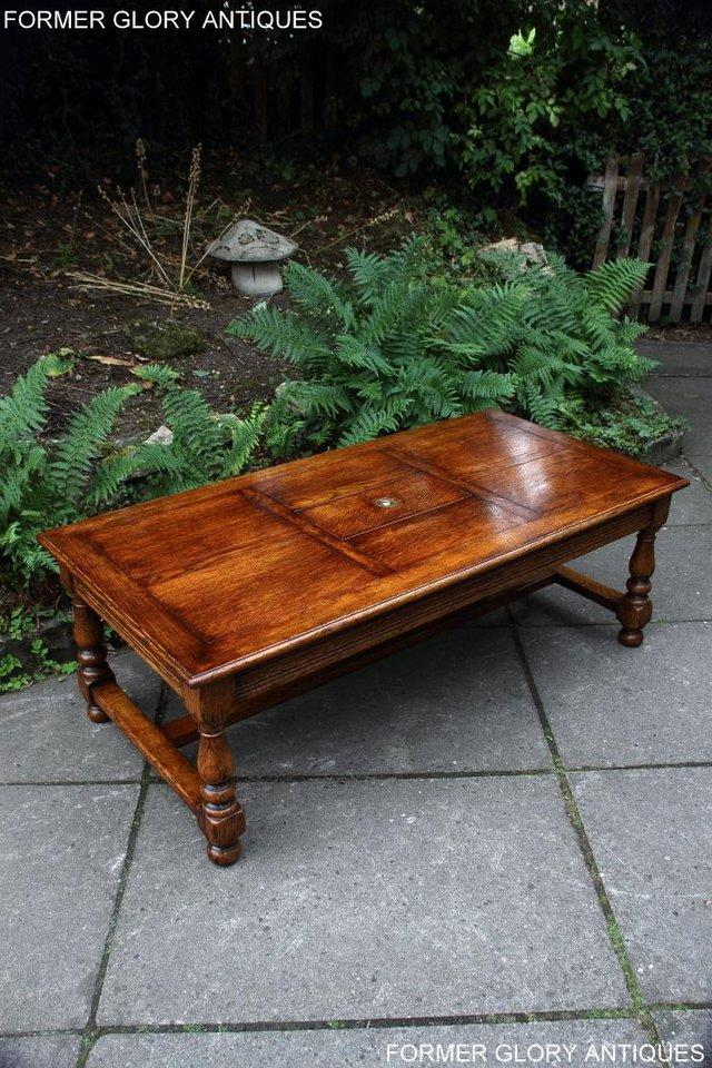 Image 21 of TITCHMARSH & GOODWIN STYLE OAK COFFEE TEA GAMES TABLE STAND