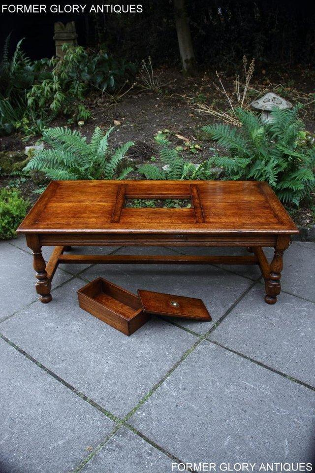 Image 24 of TITCHMARSH & GOODWIN STYLE OAK COFFEE TEA GAMES TABLE STAND