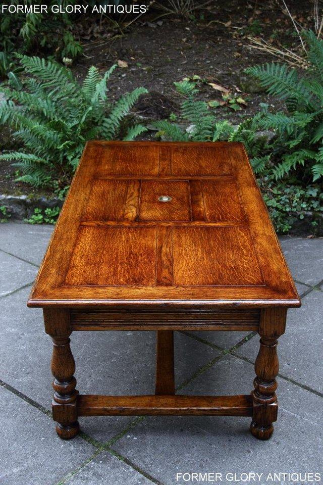 Image 26 of TITCHMARSH & GOODWIN STYLE OAK COFFEE TEA GAMES TABLE STAND
