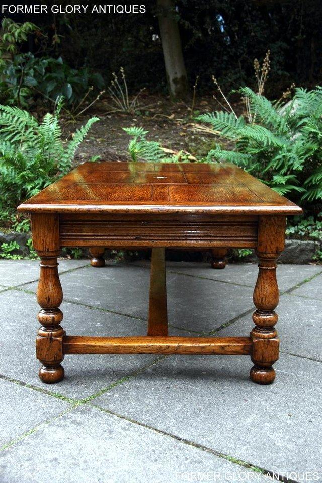 Image 31 of TITCHMARSH & GOODWIN STYLE OAK COFFEE TEA GAMES TABLE STAND