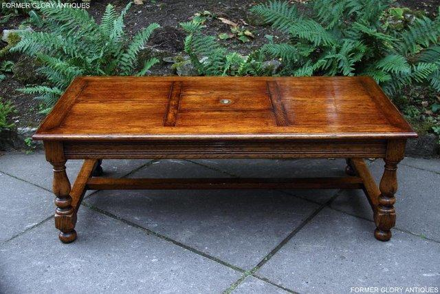 Image 33 of TITCHMARSH & GOODWIN STYLE OAK COFFEE TEA GAMES TABLE STAND