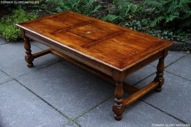 Image 35 of TITCHMARSH & GOODWIN STYLE OAK COFFEE TEA GAMES TABLE STAND