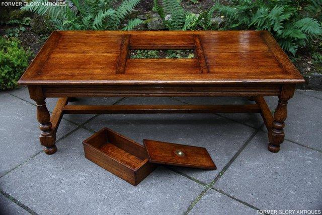 Image 36 of TITCHMARSH & GOODWIN STYLE OAK COFFEE TEA GAMES TABLE STAND