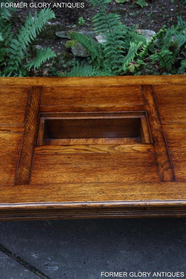 Image 37 of TITCHMARSH & GOODWIN STYLE OAK COFFEE TEA GAMES TABLE STAND