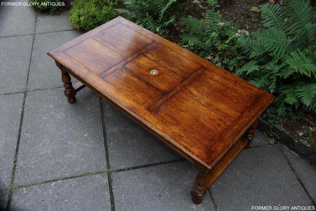 Image 40 of TITCHMARSH & GOODWIN STYLE OAK COFFEE TEA GAMES TABLE STAND