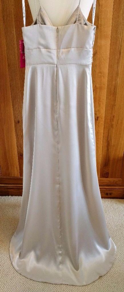 Image 3 of NEW MORGAN & CO Wedding Dress Diamante Platinum Art Deco