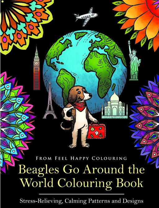 Preview of the first image of Beagles Go Around the World Colouring Book (Bestseller).