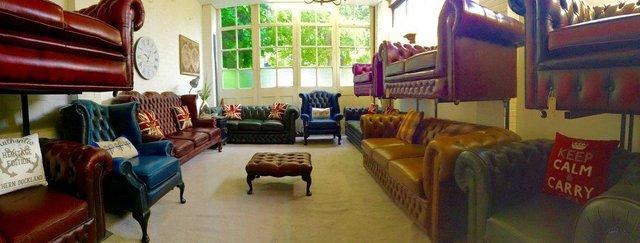 Image 5 of Chesterfield armchairs. Queen Anne & club style. Can deliver