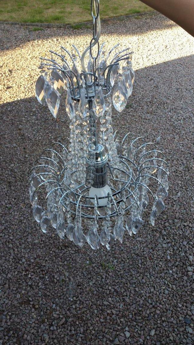 Dunelm lighting second hand furniture preloved chandelier style lights x 4 excellent condition previously purchased new from dunelm total length from top of pendant where it attaches to ceiling to mozeypictures Gallery