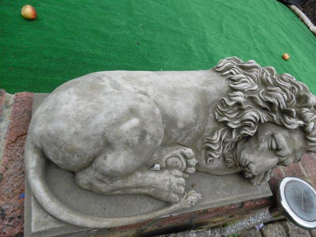 Concrete Stone Lion Garden Ornament