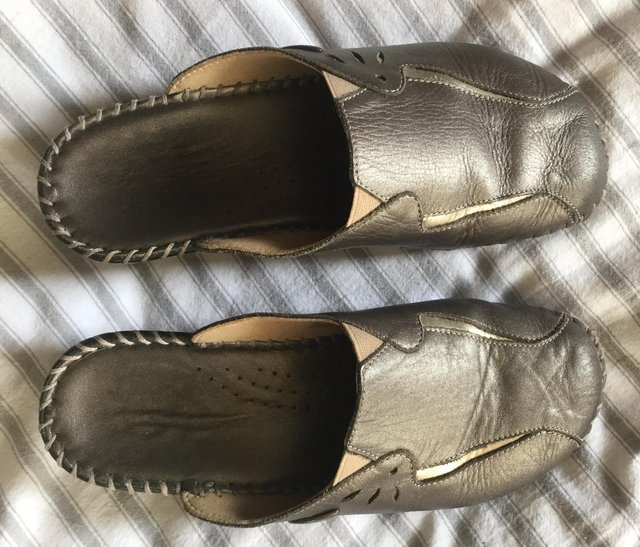 Image 3 of Sz 4 FLORANCE Anti-Shock Comfort Leather Mules