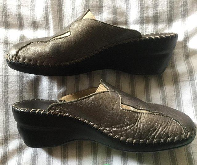Image 8 of Sz 4 FLORANCE Anti-Shock Comfort Leather Mules