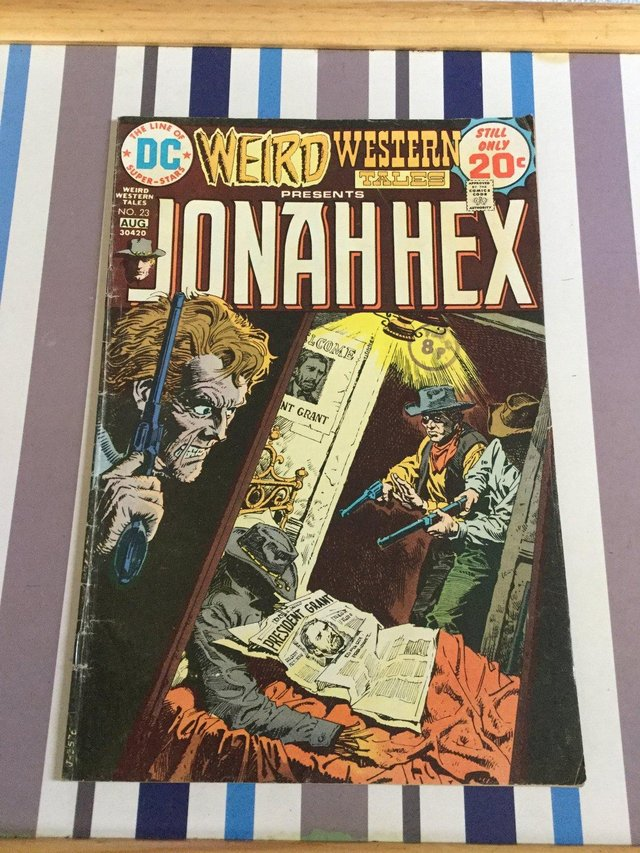 Preview of the first image of DC Comics Weird Western Tales, JONAH HEX, 1974.