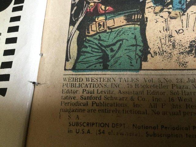 Image 35 of DC Comics Weird Western Tales, JONAH HEX, 1974