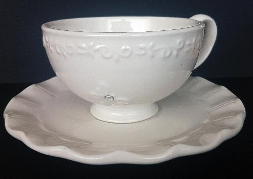 """Preview of the first image of Pretty """"All Of A Flutter"""" Butterfly Tea Cup & Saucer. BX9."""