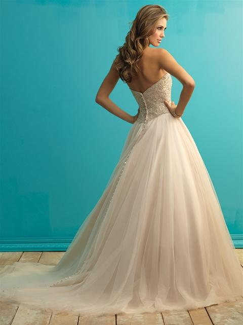 Image 2 of Allure 9262 champagne wedding dress size 14