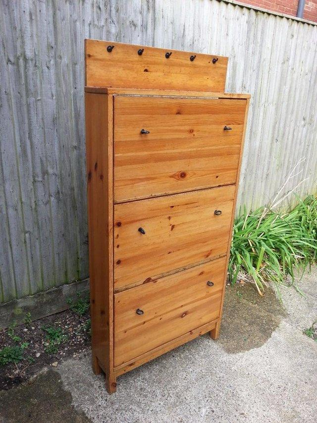 wooden shoes cabinet